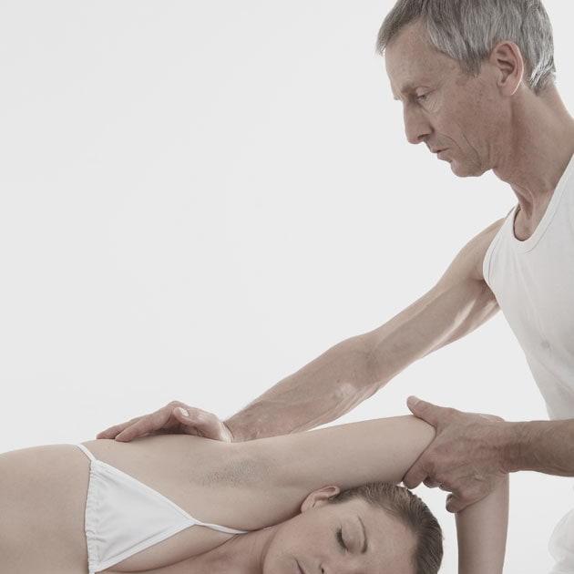 Massage und Bodywork - Stephan Lautz mit Klientin